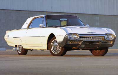 1961 white hardtop thunderbird bird nest thunderbirds