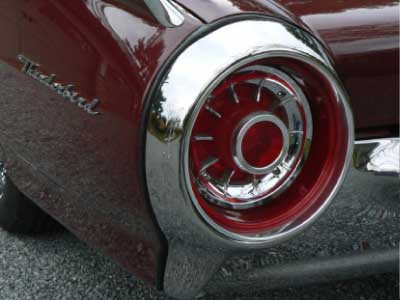 1963 thunderbird tail light bird nest thunderbirds