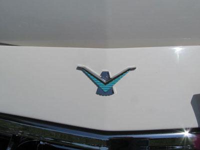 1958-59 thunderbird hood bird ornament bird nest thunderbirds