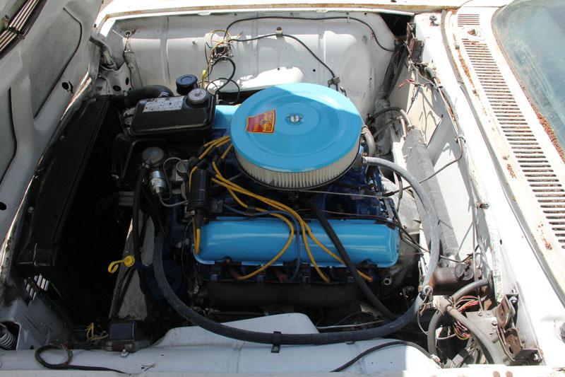 1959 thunderbird engine bird nest thunderbird